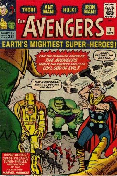 The First Avengers comic from 1963