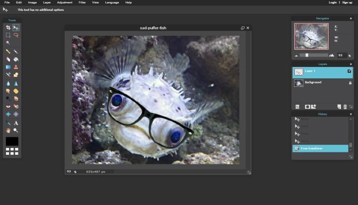 pixlr Online User Interface