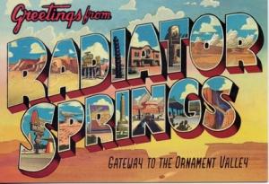 Radiator Springs Card