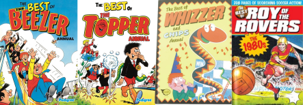 best of annuals Roy of the Rovers Whizzer and Chips Topper Beezer
