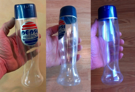 Pepsi Perfect Turn Around Clear Bottle Back to the Future