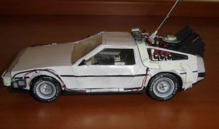 delorean papercraft Back to the Future Week
