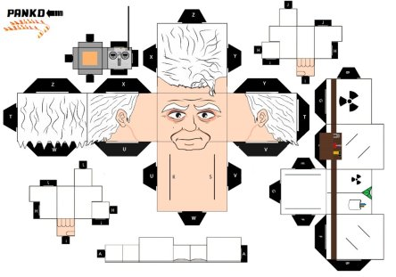Doc Brown Cubeecraft Back to the Future Week