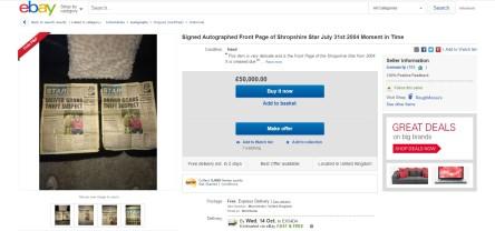Funny Ebay Listing Autograph