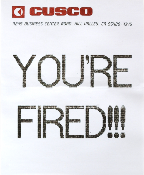 You're Fired Back to the Future Week Print Off Prop
