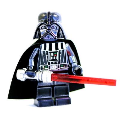 Chrome Darth Vader Minifigure