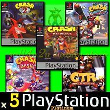 crash bandicoot ps1 5 games