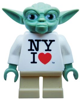 I Love NY Yoda Lego Minifigure