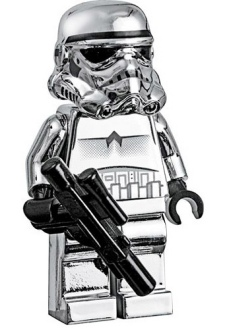 Silver Stormtrooper Lego Minifigure