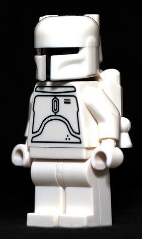 White Boba Fett Lego Minifigure